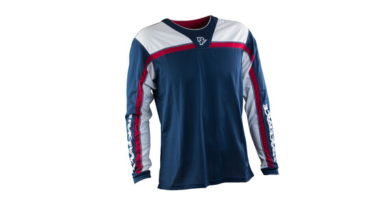 Race Face Stage LS Jersey Men Navy/Flame